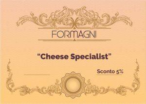 Certificato Cheese Specialist